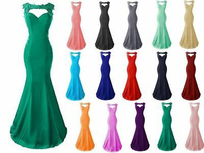 Hot Mermaid Bridesmaid Prom Dress Formal Wedding Evening Party Ball Gown Stock