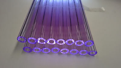 Glass Tubing LILAC BOROSILICATE (PYREX) 16 PIECES 150MM LONG 9MM*2MM Tube