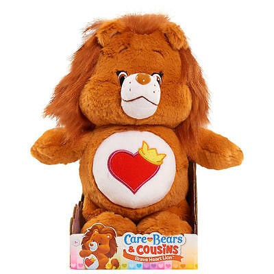 "Care Bears & Cousins Brave Heart Stuffed Lion - 13 "" Brown Plush Toy NWT"