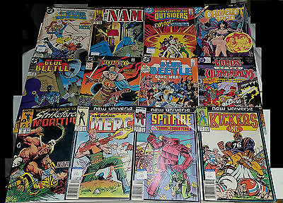 Lot of 20 Vintage 1980s 1980 Comic Books DC Marvel