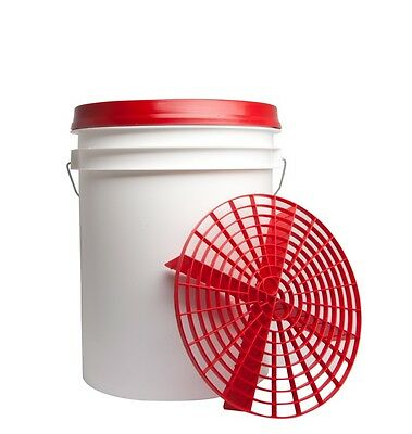 2-Pack Grit Guard Car Wash Bucket Insert & Dirt Trap - Red
