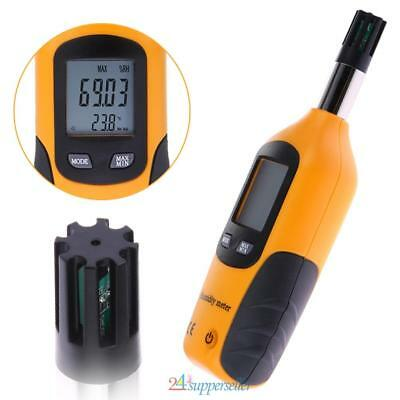 LCD Digital Psychrometer Humidity and Temperature Meter Dew Point Wet BulbTester