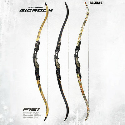 "60"" F161 Recurve American Hunting Bow 30 35 40 45 50 55 60 IBS Adult Archery Bow"