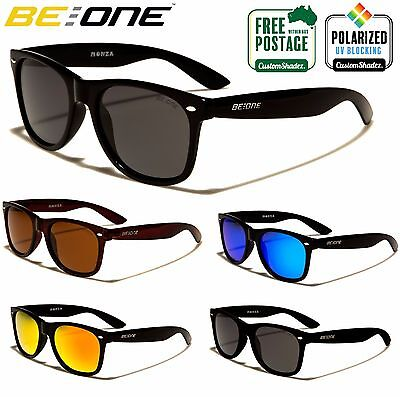 Be One Polarised Sunglasses - Classic Retro Frame - Men's / Women's - Polarized