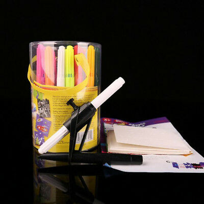 Magic Pens By Wham-O 20 Amazing Color Changing Pens, Stencils And Storage NEW