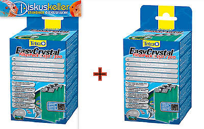 x 2 Tetra Tetratec EasyCrystal Filtre Pack C 250 / 300 Marchandises neuves