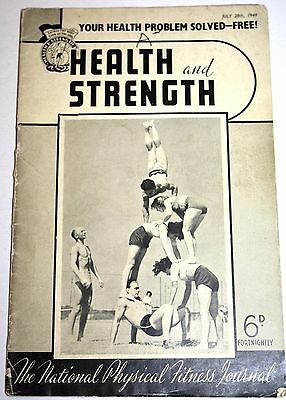 1949 VINTAGE BODYBUILDER & WEIGHTLIFTERS MAGAZINE incl Mthly Posing competition