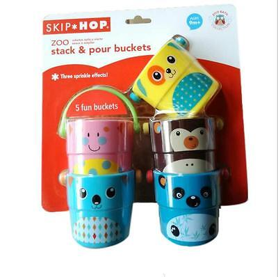 Baby Kid Child Toddler New Design Skip Hop Stack & Pour Buckets Set Bathing Toy