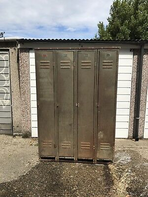 Vintage Industrial Metal Lockers 4 No.