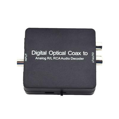 Digital Optical Coaxial Toslink Signal to Analog Audio RCA Converter Adapter