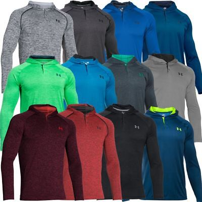 Under Armour 2017 Tech Popover Henley Training Shirt Hoody Mens Sports Cover-Up
