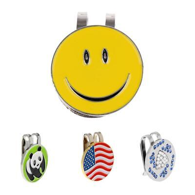 Alloy Golf Hat / Cap / Visor Clip with Magnetic Ball Marker Set of 4