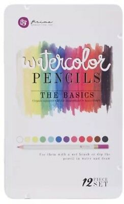 Prima Mixed Media Watercolour Pencils - The Basics 12 piece set