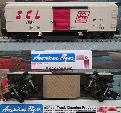 eSPee TRACK CLEANING BOX CAR - American Flyer - Seaboard Coast Line - S Scale