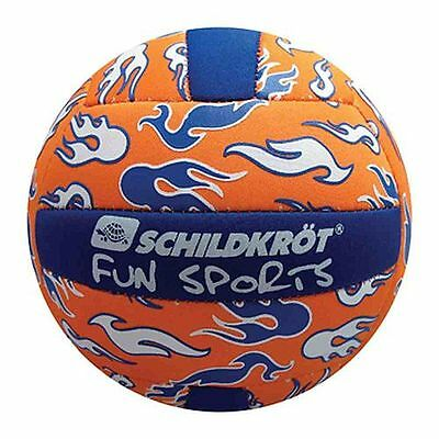 Neoprene Mini Beachvolleyball Gr.2 Volleyball Strandvolleyball blau orange 15 cm