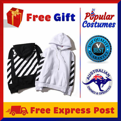 Off White Hoodie Virgil Abloh Pyrex Vision Street Wear Jumper Sweatshirt Costume