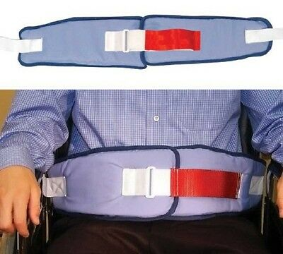 Wheelchair Seatbelt Resident Release Soft Belts - Velcro with Red Loop