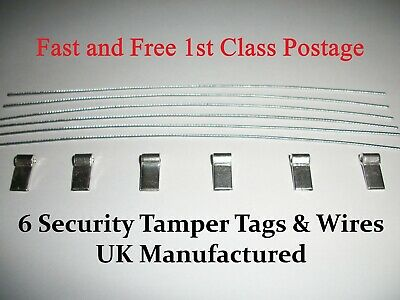 6 Meter Seals Security Electrical tags - Gas Electric box Taxi's - NEXT DAY POST
