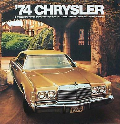 1974 Chrysler New Yorker Newport Town and Country Wagon Dealer Sales Brochure