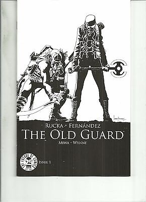 The Old Guard #1  25Th Anniversary Image Blind Box Black And White Variant Nm