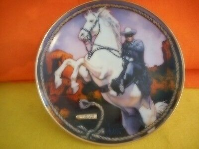 LONE RANGER,LTD EDITION 1995 PORCELAIN COLLECTOR PLATE W/ SILVER BULLET Reduced
