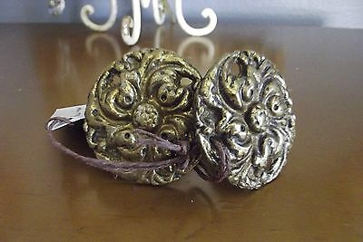 "ANTIQUE EUROPEAN 2"" Ornate SOLID BRASS Handles PULLS Knobs"