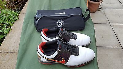 Manchester United Nike Golf Shoes Size 12 Uk And Shoe Bag