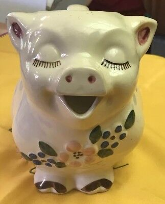 SHAWNEE POTTERY Smiley Pig  Jug / Ceramic Pitcher Patented USA Vintage 1940's