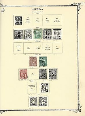 Uruguay - Nice Used / Mint Early Years Stamps Collection (1866-1919) 130 Stamps