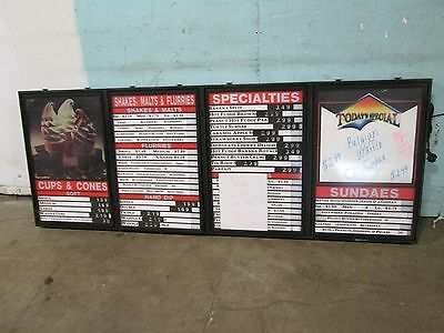 """MAINSTREET""  COMMERCIAL LIGHTED WALL/CEILING MOUNT MENU BOARD w/ACRYLIC COVERS"