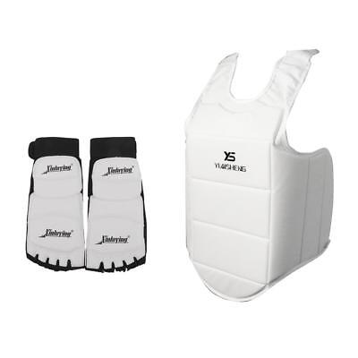 Chest Protector Guard and Taekwondo Foot Pads Protector MMA Instep Guards