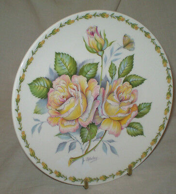 Crown Staffordshire Fine Bone China Limited Edition 1973  'peace Rose' Plate