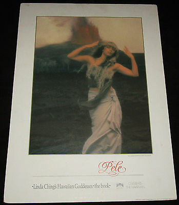 """HAWAII POSTER PRINT PELE From Goddesses by Linda Chang 21.5"""" x 29.5"""" On Backing"""