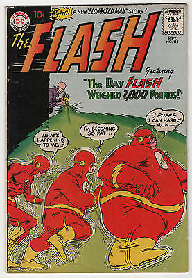 Flash #115 solid 2nd appearance Enlongated Man 1960 early Silver Age DC