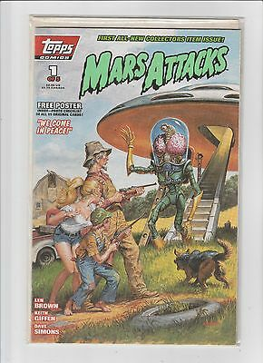 Mars Attacks Complete Set #1-5 Flip Covers Topps Comics (1994) NM/M