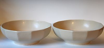 Pair Large Aluminum Serving Console Art Deco Modern Bowls MCM UL Lafayette NJ