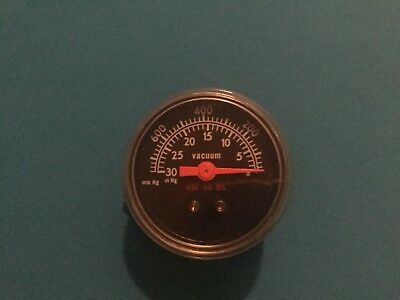 Vacuum Gauge-USED-Black Dial-0-30Hg