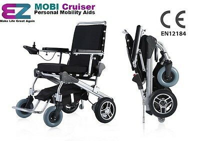 Electric Wheelchair Mobility Folding Holiday Travel Lite EZ Mobi Deluxe Cruiser