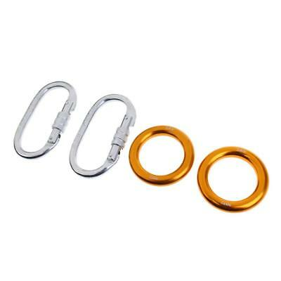 25KN Climbing Carabiner & 22KN Rappel Ring Bail-outs Aerial Hammock Hardware
