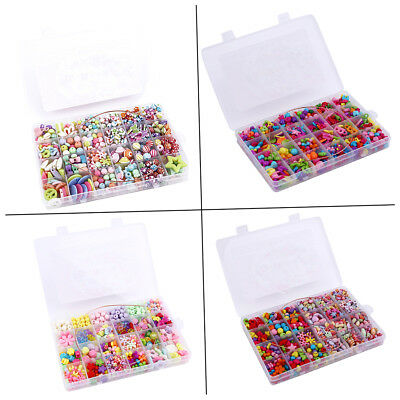 Creative Children 24 Grids Candy Colors DIY Wear Beads Bracelet Kids Toys F1