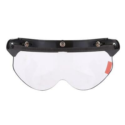 3/4 Protect Face Flip Visor with Clear Lens for Universal Motorcycle Helmet