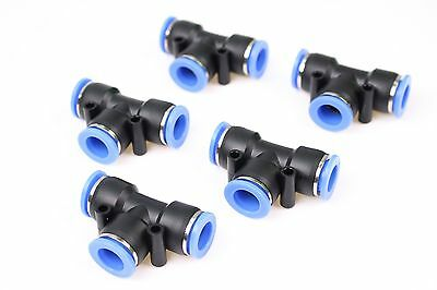 """5PCS Pneumatic Push in Connect Fitting  5/32"""" OD Tube Tee Union Coupler"""