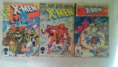 X-Men Annuals issues # 10 11 and 12 comic book lot(Marvel,1980s)