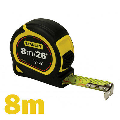 Stanley Tylon Retractable Tape Measure Length: 8m (26ft) x Width: 25mm New