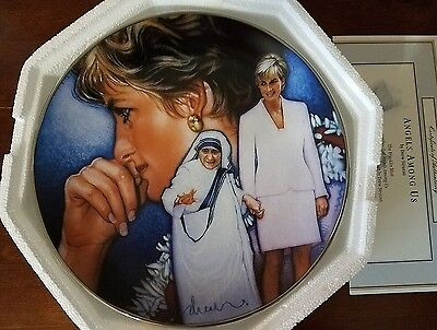 """Princess Diana """"Angels Among Us"""" Franklin Mint Collectors Plate"""