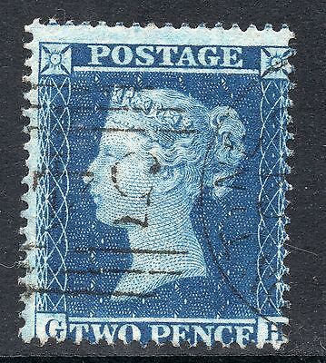 GB Victorian 1858 2d Pence BLUE Stamp LC Watermark Perf 16 SG36a VF.USED Re:X688