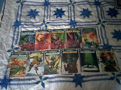 Green Arrow Rebirth #21-31 ALL 1st PRINTS w/ BAGS and BOARDS