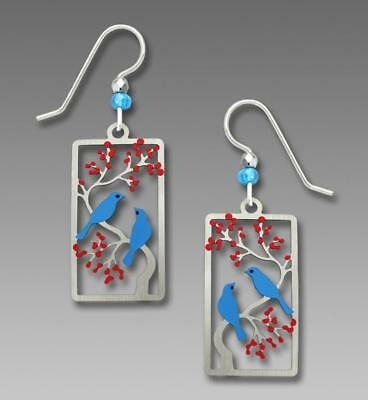 Sienna Sky Earrings 925 Sterling Silver Hook Two Birds in a Cherry Tree Handmade
