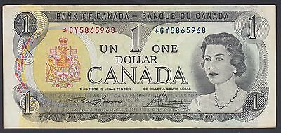 1973 $1 Dollar Replacement - Lawson Bouey - Prefix GY - Bank of Canada - B635