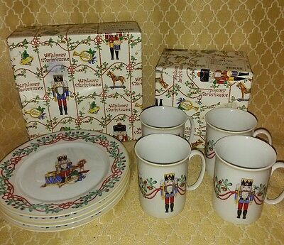 Vintage Whimsy Christmas Mugs & Plate Block Spal Nutcracker Wow New In Box!